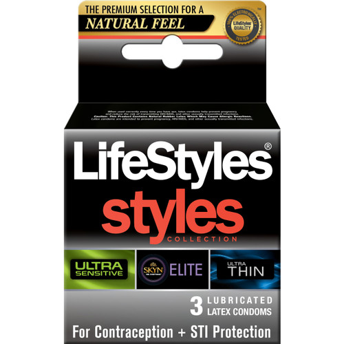 Lifestyles Styles Sensitive Collection 3 Pack