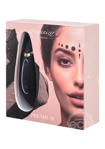 Womanizer Premium Rechargeable Waterproof Clitoral Stimulator - Black