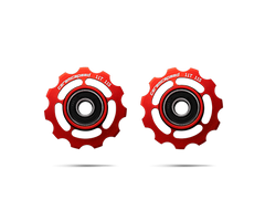ceramicspeed shimano 11 speed pulley wheels in red