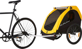 Burley Bee two behind bicycle trailer