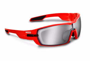 Kask Koo Open red black with smoke mirror lense