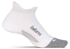 Feetures Elite Max Cushion No Show Tab white
