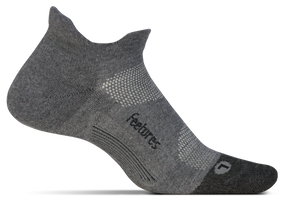 Feetures Elite Max Cushion No Show Tab gray