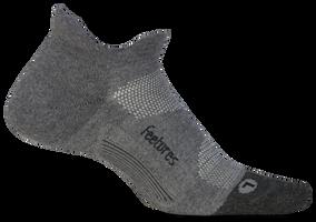 Feetures Elite Max Cushion No Show Tab gray