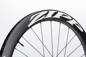 Zipp 404 Firecrest Carbon Clincher Tubeless Disc Brake Front white decal