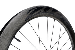 Zipp 404 Firecrest Carbon Clincher Tubeless Disc Brake Front matte black decal