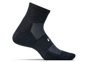 Feetures High Performance Cushion Quarter black sport factory