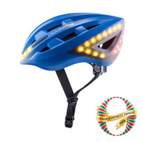 Lumos Kickstart Helmet With Brake Turn Signal Lights cobalt blue sport factory