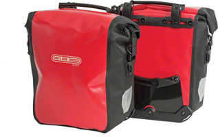 Ortlieb Front-Roller City Pannier red black