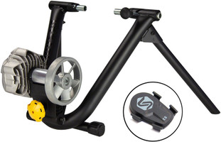 Saris Fluid 2 Trainer Smart Equipped runs rouvy, zwift, and more