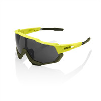 100% Speedtrap Soft Tact Bannana Frame with Black Mirror Lense sport factory