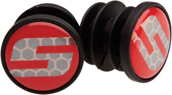 SRAM Reflective Bar End Plugs s logo