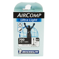 Michelin 700X18/23 U/LIGHT A1 Smooth Valve Tube