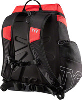 Tyr Alliance 30L Backpack back view red black