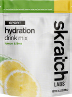 Skratch Labs Exercise Hydration Mix 20 Serving Bag lemons and lime