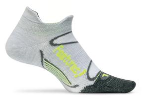 Feetures Elite Merino+ Ultra Light No Show Tab gray reflector