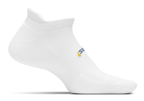 Feetures High Performance Cushion No Show Tab white sport factory