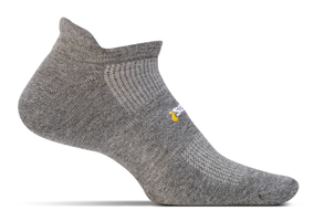 Feetures High Performance Cushion No Show Tab gray sport factory