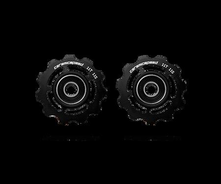 ceramicspeed shimano 11 speed pulley wheels in black