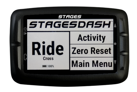 stages dash cycle computer horizontal