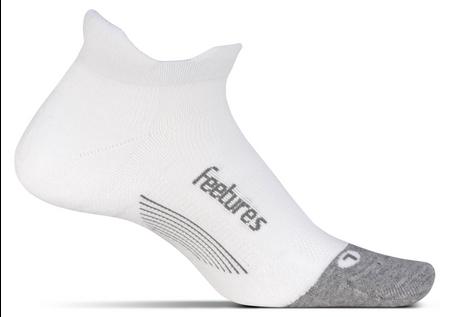 Feetures Elite Max Cushion No Show Tab white