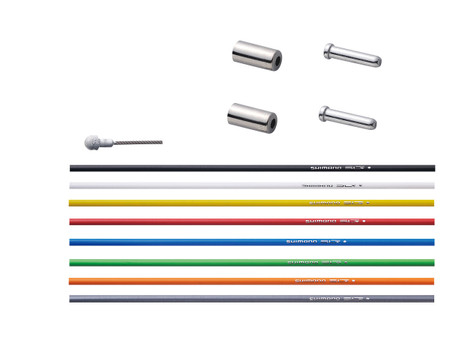 Shimano PTFE Brake Cable Set in a rainbow of colors