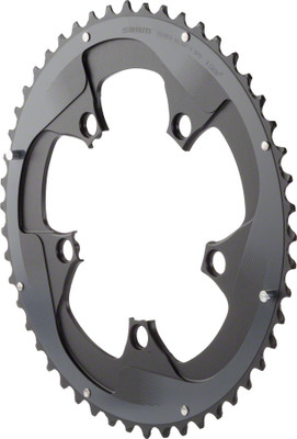SRAM Force 22 52T 110mm BCD YAW Chainring Black for Hidden or Non-Hidden Bolt Use with 34T