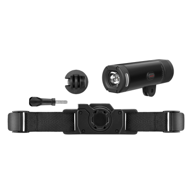 Garmin Varia™ UT800 Smart Headlight trail Edition with helmet mounting hardware