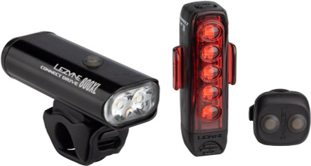 Lezyne Connect Drive Light Set, 800XL Macro Drive/Rear Strip Drive with Remote