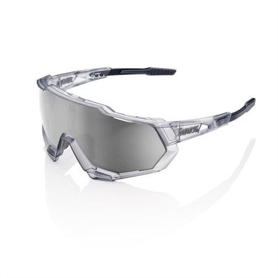 100% Speedtrap Matte Translucent Frame with Crystal Gray Lense sport factory