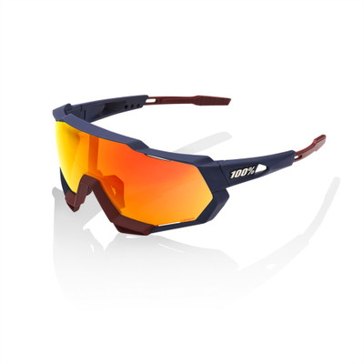 100% Speedtrap Soft Tact Flume Frame with Red Mirror Lense sport factory