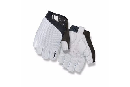 Giro Monaco II Gel Road Bicycle Gloves white black