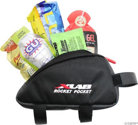 xlab rocket pocket holds gels for triathlon