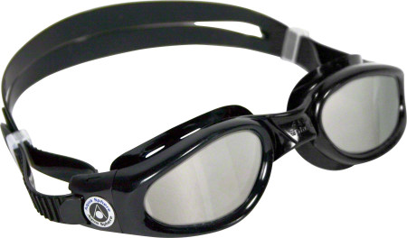 Aqua Spere Kaiman Goggles: Black with Mirror Lens