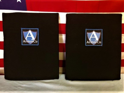 "Kevlar XP Soft Armor Panel NIJ IIIA 10"" x 12"" Insert BLK Rectangular Set of 2"