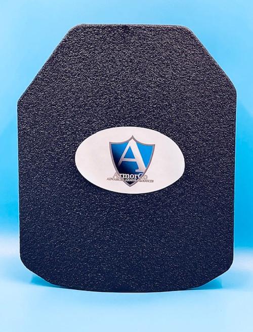 "AR500 Steel NIJ III+ Right Hand 10""x12"" SAPI Cut Curved Front Plate"