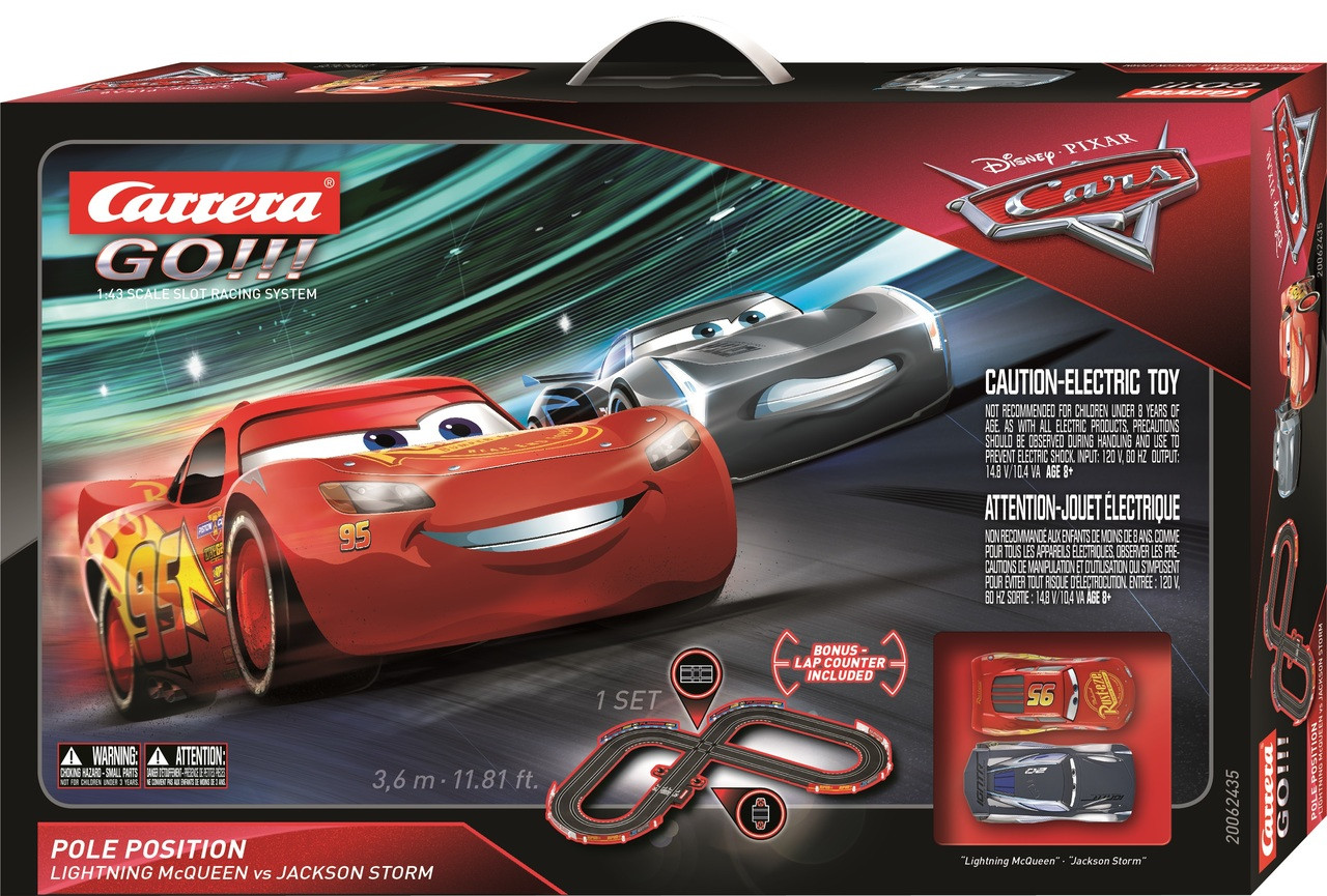 62435 Carrera Go Disney Pixar Cars 3 Pole Position 1 32 Slot Car Set Great Traditions