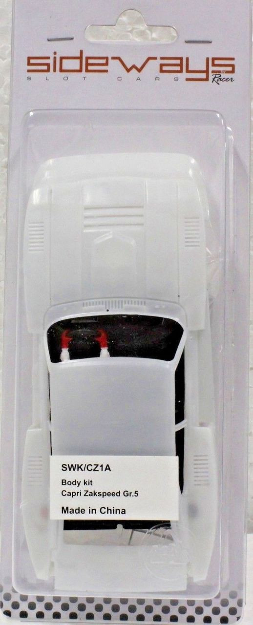 SWK/CZ1A Racer Sideways Ford Capri White Body Kit 1/32 Slot Car Part