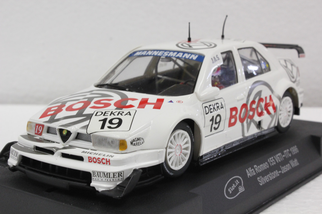 Sica45a Slot It Alfa Romeo 155 V6 Ti Bosch Silverstone 1996 19 1 32 Slot Car Great Traditions