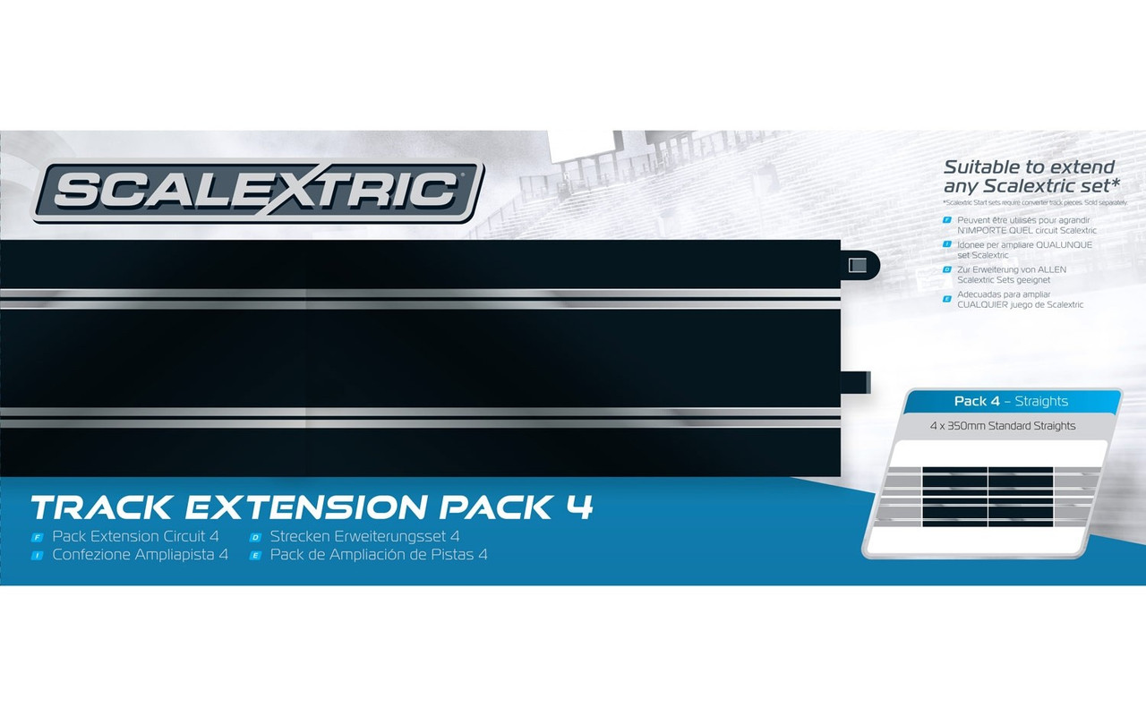 Scalextric Track Extension Pack 5-8pcs C8205 350mm Straight Tracks C8554