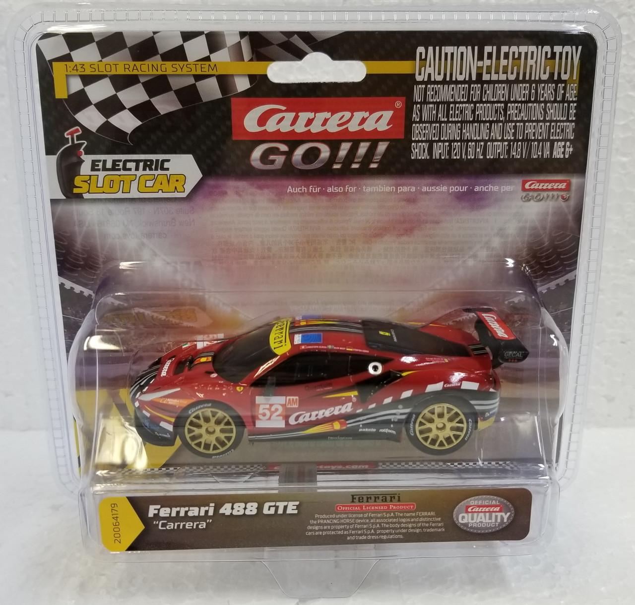 Slot Car Race Tracks Carrera 64179 Ferrari 488 GT3 Carrera 1:43 Scale Analog Slot Car Racing Vehicle for Carrera GO!! 20064179
