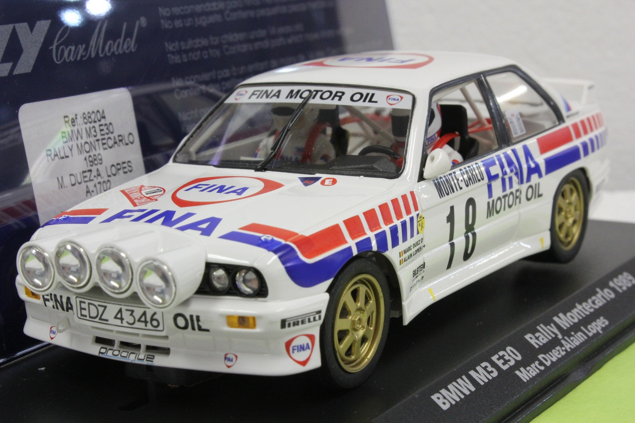 A1702 Fly Bmw M3 E30 Rally Montecarlo 1989 Marc Duez Alain Lopes 88204