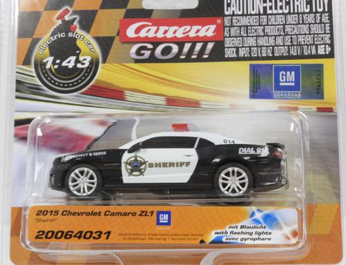 64031 Carrera Go!!! Chevrolet Camaro Sheriff 1:43 Slot Car