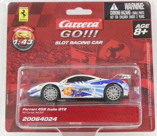 """64024 Carrera Go!!! Ferrari 458 Italia GT2 """"AF Corse"""" #54, 1:43 Slot Car"""