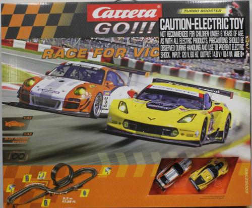 62369 Carrera Go!!! Race for Victory 1:43 Slot Car Set