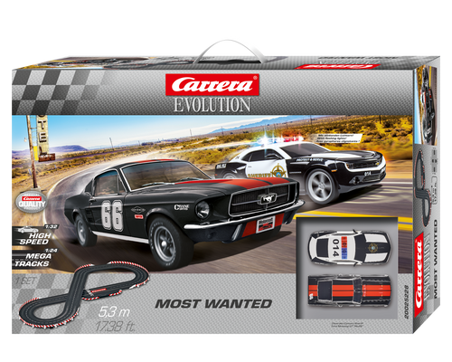 25228 Carrera Evolution Most Wanted 1:32 Slot Car Set