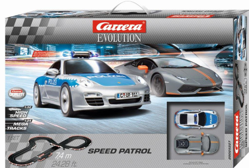 25227 Carrera Evolution Speed Patrol 1:32 Slot Car Set