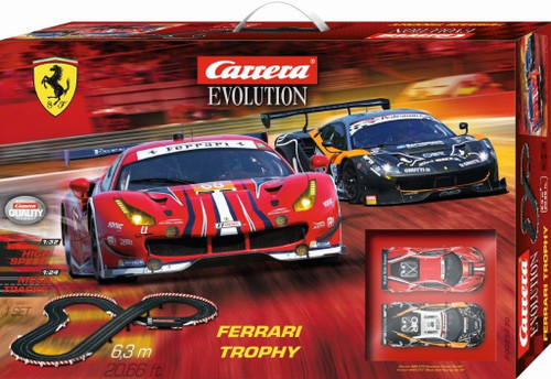 25230 Carrera Evolution Ferrari Trophy 1:32 Slot Car Set