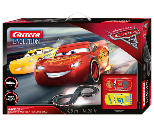 25226 Carrera Evolution Disney Pixar Cars 3 Race Day 1:32 Slot Car Set