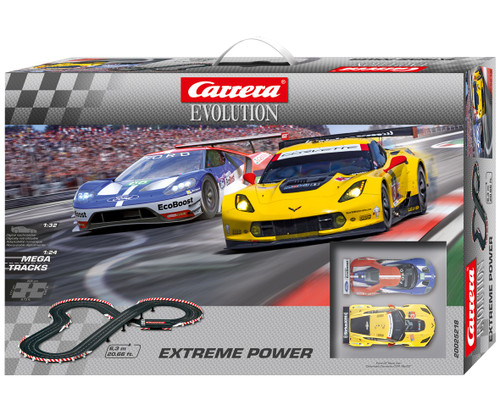 25218 Carrera Evolution Extreme Power Race Day Slot Car Set